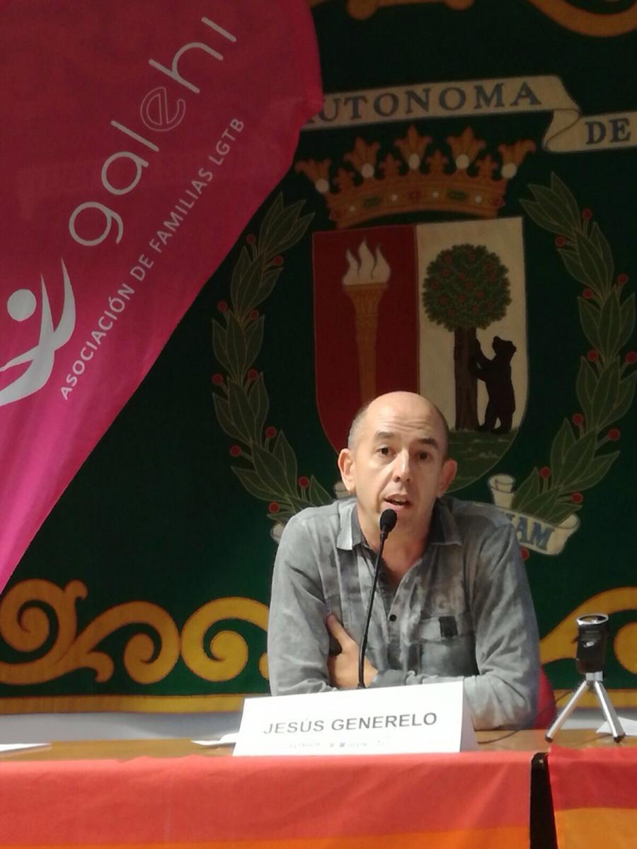 Inauguración. Jesús Generelo, presidente de FELGTB
